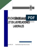 Aplicacion de La Lefp y Lot en Las Relaciones Laborales