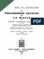 La Philosophie Occulte. Livre II