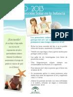 Cartel Proteccion Solar Infancia