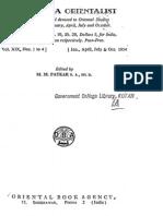 The Poona Orientalist Volume 19 (1954)