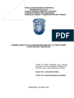Régimen Jurídico de Los Funcionarios Públicos y El Nuevo Orden Constitucional Venezolano