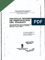 Tecnicas Modernas de Preparación Del Trabajo (Karr)