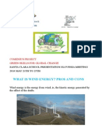 Santa Clara Students Cantabria Wind Energy Pros and Cons