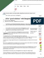 Modi for 'Good Relations' With Bangladesh - Bdnews24