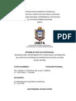 INFORME FINAL de PASANTIAS Ingenieria Sistemas Unefa