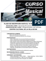 Bases VI Curso Perfeccionamiento Musical Villa de Ibi 2014