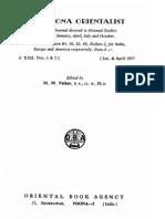 The Poona Orientalist Volume 22 (1957)
