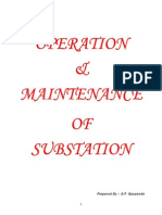 Substation Operation And Maintenance Pdf