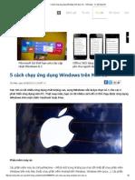 5 Cách Chạy Ứng Dụng Windows Trên Mac OS