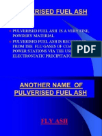 FLY ASH As Supplementary Building Material