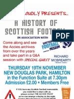 Scottish Football Museum event poster