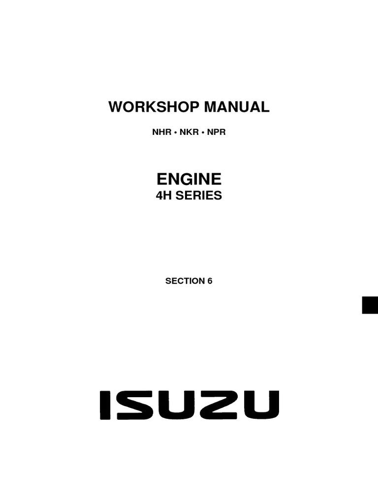 isuzu nhr nkr npr motor oil fuel injection rh es scribd com isuzu npr repair manual online free isuzu npr repair manual download