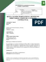Doc. 633 renta. leasing habitacional. beneficios tributarios. cesión de la posición contractual.pdf
