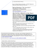 Why do only a minority of men report severe levels of eating disorder symptomatology, when so many report substantial body dissatisfaction?- Examination of exacerbating factors