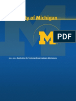 University of Michigan First Year Application 2012