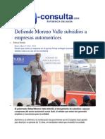 27-05-2014 e-consulta.com - Defiende Moreno Valle subsidios a empresas automotrices.