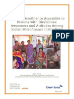 Making Microfinance Accessible for Persons With Disabilities