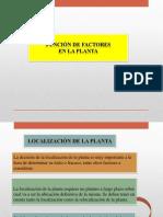Funcion de Factores en La Planta