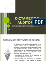 Dictamen Con Abstencion de Opinion
