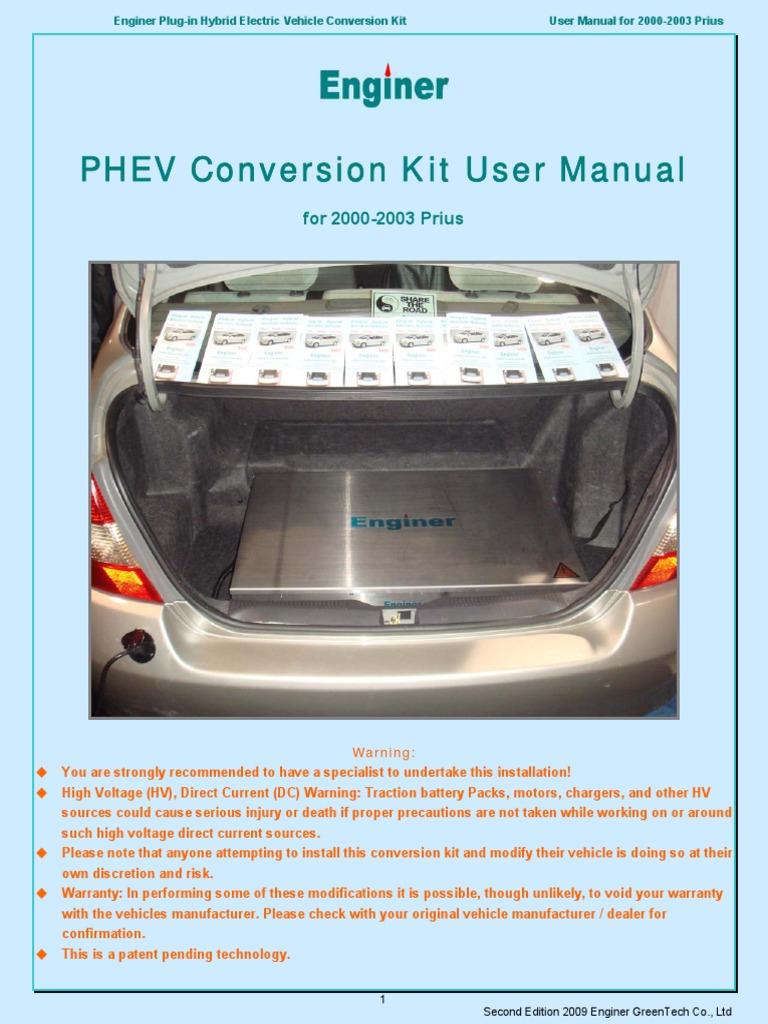 Enginer PHEV User Manual Generation 1 Prius | Plug In Hybrid | Hybrid  Electric Vehicle