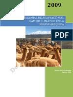 Arequipa, Estrategia de Adapatacion Al Cambio Climatico