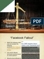Teacher Freedom of Speech