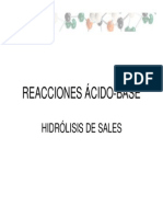 Hidrolisis de Sales