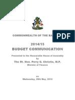Budget Communication Combined 2014-15