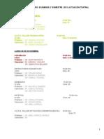 Calendario Exámenes   Actuación 2 sem 2013