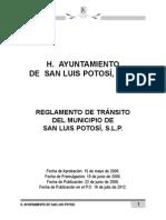 Reglamento de Transito de SLP 2013