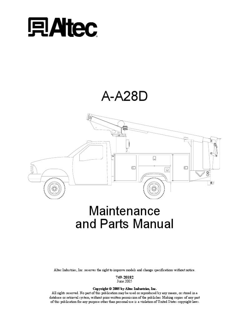 Altec Hydraulic Lift Diagram For Wiring Electrical Basic Guide U2022 Pump