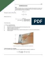 Cálculo de Empujes y Muro Mensula