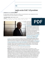 """""""¿Quién Está Negociando Con Las FARC_ ¿El Presidente Santos o El Candidato_"""" _ Internacional _ EL PAÍS"""
