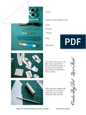 Coraline Paper Doll Instructions