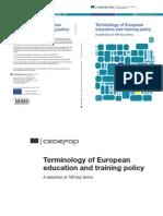 Terminologia de Educação Europeia