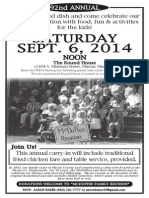 2014 McDuffee Family Reunion Flyer