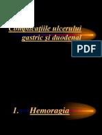 Complicac5a3iile Ulcerului Gastric Si Duodenal2010