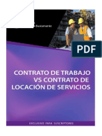 Contrato Trabajo vs Locacion Servicio
