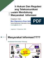 Arah Hukum Dan Regulasi Telekomunikasi