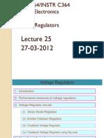 Analog Lect 25 27032012 Voltage Regulators