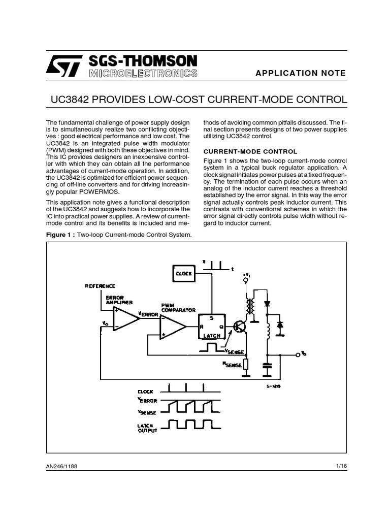 UC2842_SGS_AN pdf | Amplifier | Power Supply