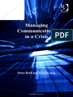 Peter Ruff, Khalid Aziz Managing Communications in a Crisis 2004