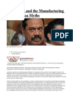 War, Peace and the Manufacturing of Rajapaksa Myths