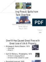 Preventing Fires & Spills From Tank Overflow