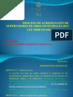 Curso Nacional_proceso_acreditación de Supervisores de Obra Municipales_2012