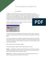 Información General y Ejemplos de Validación de Datos