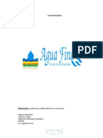 Plan Empresarial Agua Fina