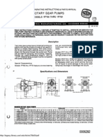 TEEL BRONZE ROTARY PUMP Manual & Parts List