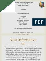 español generos periodisticos