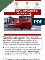 Interpersonal Communication Aboard Ships(1)